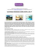 SLOVENIJA-KRANJSKA GORA-HOTEL LEK 4*