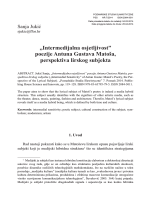 """""""Intermedijalna osjetljivost"""" poezije Antuna Gustava Matoša"""