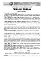PEKING I ŠANGAJ - Sirius Travel doo