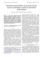 Klasifikacija patoloških i bezazlenih srčanih šumova
