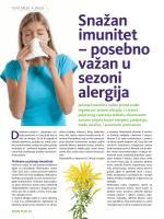 Snažan imunitet – posebno važan u sezoni alergija