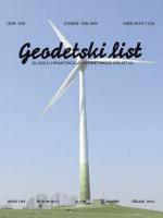 Broj I - Hrvatsko geodetsko društvo
