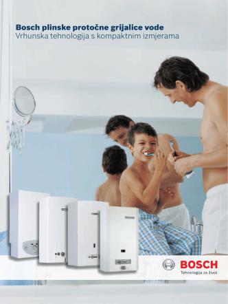 Bosch plinske protočne grijalice vode Vrhunska tehnologija s