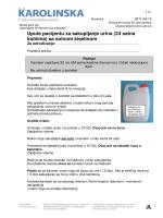 Upute pacijentu za sakupljanje urina (24 satna količina) sa solnom