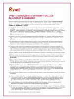 Uvjeti korištenja B.net internet usluge za CARNet korisnike