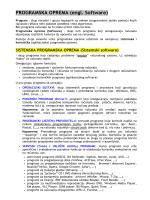 PROGRAMSKA OPREMA (engl. Software)