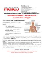 """Medicinska revolucija - matične stanice i regenerativna"