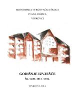 GODIŠNJE IZVJEŠĆE - Ekonomska i trgovačka škola Ivana Domca
