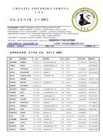 ADRESARCT Ue ZA 2 0 1 2 . GOD. - Croatia tiplerska udruga – CTU