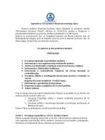 Zapisnik sa 101 sjednice Nastavno-naučnog vijeća Stoprva sjednica
