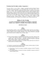 pravilnik o bodovanju - Vlada Kantona Sarajevo