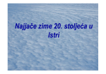 Najjače zime 20. stoljeća u Istri obrada [Način kompatibilnosti]