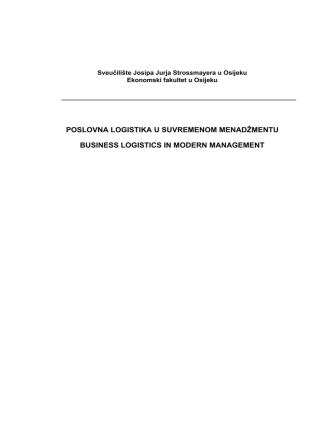 BLMM 2010 - Business Logistic in Modern Management Conference