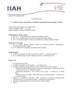 Sažetak zapisnika s 2. sjednice ZO za biološke opasnosti
