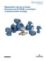 Magnetski mjerač protoka Rosemount 8732EM s revizijom 4