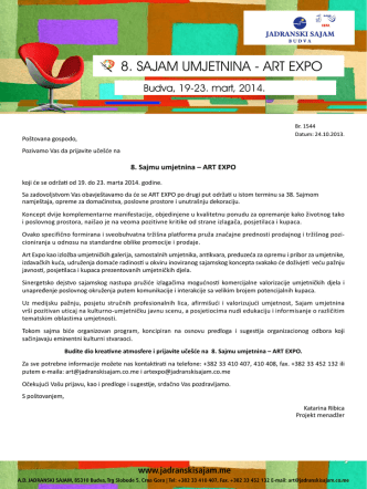 8. SAJAM UMJETNINA - ART EXPO
