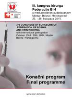 konacan program kongresa - Sveučilišna klinička bolnica Mostar
