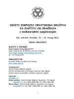 9SimpHDZZ-Druga obavijest - Institut za Medicinska Istraživanja i