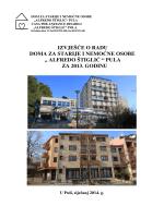 Izvješće o radu ustanove za 2013. godinu