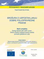 Brošura o uspostavi dobre poljoprivredne prakse na