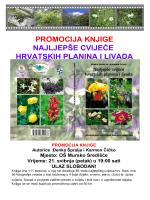 promocija knjige najljepše cvijeće hrvatskih planina i livada