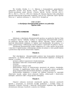 Odluka o obavljanju dimnjačarskih poslova na