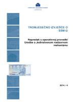 Tromjesečno izvješće o SSM-u 2014./4