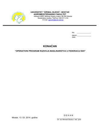bos - Federalno ministarstvo poljoprivrede, vodoprivrede i šumarstva