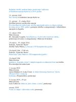 Kalendar izložbi, predstavljanja, predavanja i radionica u Gradskom