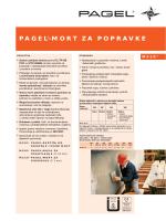 pagel®-mort za popravke - Pagel Spezial