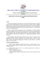 Program uzgoja sportskih konja - Hrvatska udruga uzgajivača