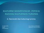 Kulturne manifestacije - poticaj razvoju kulturnog turizma