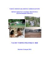 Nacrt vodne politike u BiH