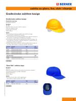 zaštita za glavu, lice, sluh i disanje Građevinske zaštitne