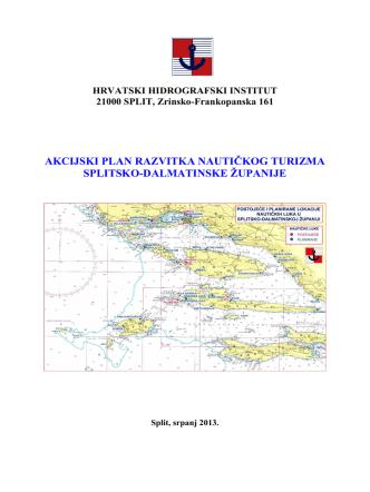 Akcijski plan razvitka nautičkog turizma Splitsko