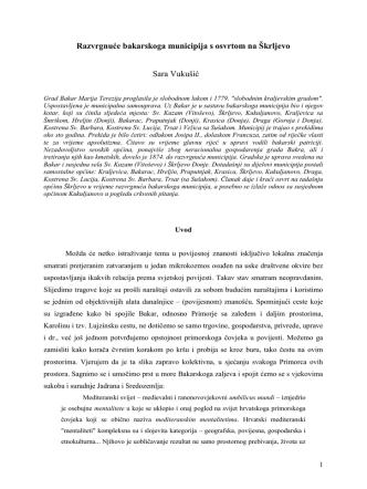 8. Vukušić, Sara. Razvrgnuce bakarskoga municipija s osvrtom na