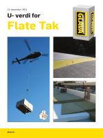 U- verdi for Flate Tak