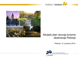 Akcijski plan razvoja turizma destinacije Petrinje