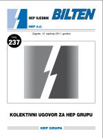Kolektivni ugovor za HEP Grupu 2011.