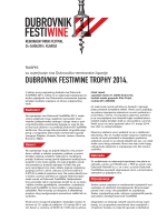 DUBROVNIK FESTIWINE TROPHY 2014.