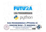 liga programiranja u pythonu za osnovne škole – 2. radionica