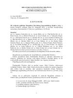 ZAPISNIK - Hrvatsko kanonističko društvo