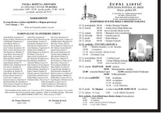 Broj 9, nedjelja (B), od 15. do 28.12.2014.