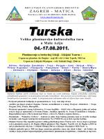 ZAGREB - MATICA Velika planinarsko-kulturološka tura