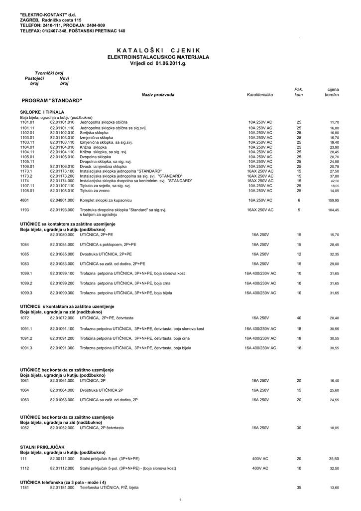ELEKTRO KONTAKT CJENIK OD 01.06.2011..pdf