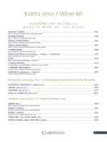 Karta vina / Wine list - Restoran Cosmopolitan Niš