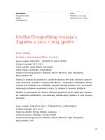 Izložbe Etnografskog muzeja u Zagrebu u 2012. i 2013. godini