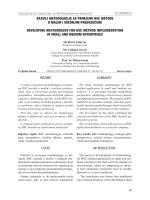 razvoj metodologije za primjenu bsc metode u malim i srednjim