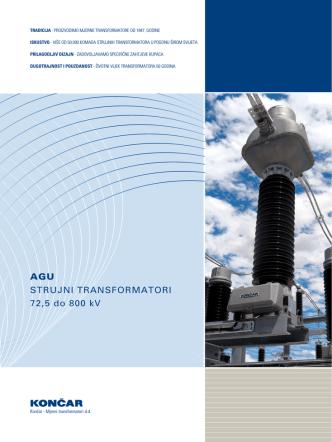 AGU STRUJNI TRANSFORMATORI 72,5 do 800 kV