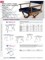 Stolci, stolovi, nosači i platforme